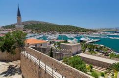 Vista de Cesme del castillo, Turquía fotografía de archivo