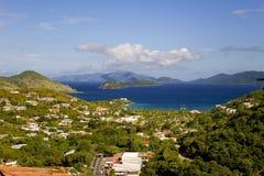 Vista de Charlotte Amalie, Santo Tomás, los E.E.U.U. Islas Vírgenes. Foto de archivo libre de regalías