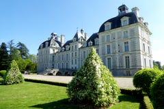 Vista de Cheverny Château del jardín imágenes de archivo libres de regalías