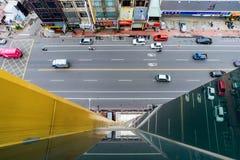 Vista de Chiayi do centro fotografia de stock
