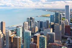 Vista de Chicago del centro de Hancock Fotos de archivo libres de regalías