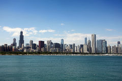 Vista de Chicago del planetario de Adler foto de archivo libre de regalías
