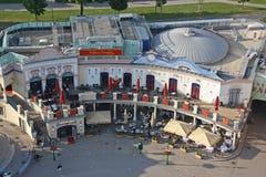 Vista de cima do parque de diversões de Wurstelprater Foto de Stock