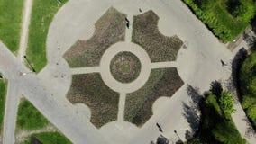 Vista de cima no bulevar em Moscou, Rússia vídeos de arquivo