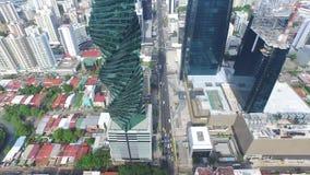 Vista de ciudad de Panamá y del tornillo metrajes