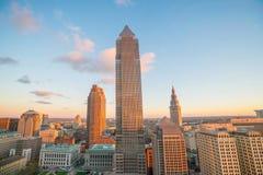 Vista de Cleveland do centro fotografia de stock