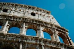 Vista de Colosseum em Roma no dia Fotografia de Stock Royalty Free
