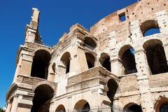 Vista de Colosseum em Roma no dia Foto de Stock Royalty Free