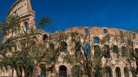 Vista de Colosseum en el hyperlapse, Roma Lazio Italia almacen de video