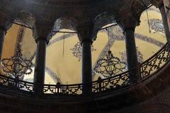 Vista de columnas de Hagia Sophia fotos de archivo