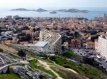 Vista de consoles de Marselha e de Frioul, France Fotografia de Stock