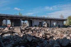 Vista de construção esmagada Foto de Stock