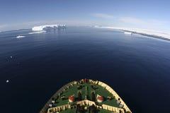 Vista de Continente antárctico Imagem de Stock