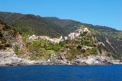 Vista de Corniglia Foto de archivo libre de regalías
