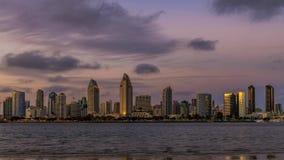 Vista de Coronado atrav?s da ba?a em San Diego City filme