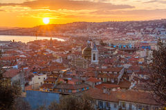 Vista - de Cote d'Azur - França agradáveis Fotografia de Stock Royalty Free