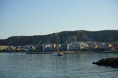 Vista de Crotone, Calabria - Itália imagem de stock royalty free