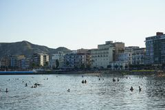Vista de Crotone, Calabria - Itália Fotos de Stock Royalty Free