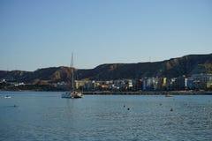 Vista de Crotone, Calabria - Itália imagens de stock