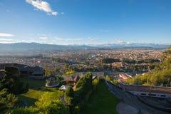 Vista de Cuenca del punto de vista de Turi Imagenes de archivo