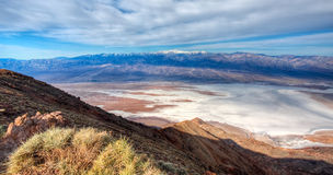 Vista de Dante \ 'de pico de s, Death Valley Imagem de Stock