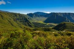 Vista de DES Palmistes, Reunion Island de Plaine Foto de archivo