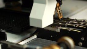 Vista de diodos luminescentes da produção, close-up filme