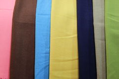 Vista de diversos scarves Imagem de Stock
