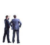 Vista de dois homens de negócios fotos de stock
