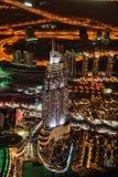 Vista de Dubai do centro do Burj Khalifa foto de stock