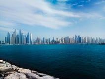 Vista de Dubai de Palma foto de archivo