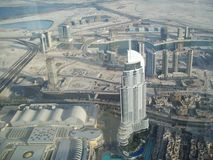 Vista de Dubai de uma altura United Arab Emirates foto de stock