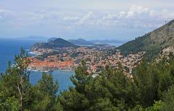 Vista de Dubrovnik Foto de archivo libre de regalías
