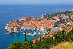Vista de Dubrovnik Imagen de archivo libre de regalías