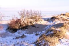 Vista de dunas en invierno Fotos de archivo