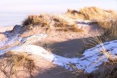 Vista de dunas en invierno Fotografía de archivo