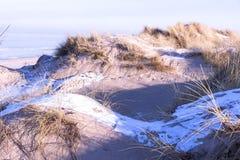 Vista de dunas en invierno Foto de archivo libre de regalías