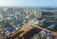 Vista de edificios modernos en Melbourne, Australia Fotografía de archivo