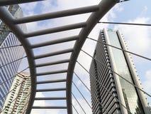 Vista de edificios modernos en Sathorn Fotos de archivo libres de regalías