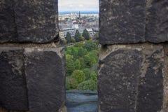 Vista de Edimburgo de Edimburgo Castillo-Edimburgo, Escocia imagenes de archivo