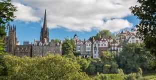 Vista de Edimburgo vieja Foto de archivo libre de regalías