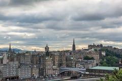 Vista de Edinburg Fotografía de archivo
