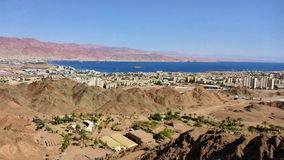 Vista de Eilat de la montaña fotografía de archivo libre de regalías
