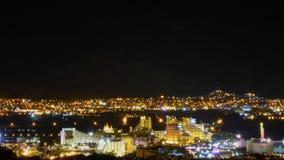 Vista de Eilat en la noche imágenes de archivo libres de regalías
