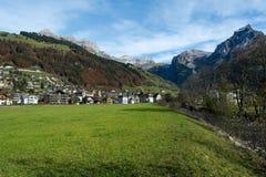 Vista de Engelberg, Suíça Foto de Stock Royalty Free