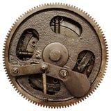 Vista de engranajes del viejo mecanismo Fotos de archivo libres de regalías
