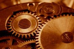 Vista de engranajes del viejo mecanismo Imagen de archivo libre de regalías