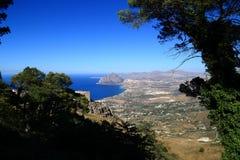 Vista de Erice (Sicília) Imagens de Stock Royalty Free