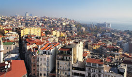 Vista de Estambul de la torre de Galata Imágenes de archivo libres de regalías