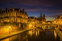 Vista de Estrasburgo Francia el río fotografía de archivo libre de regalías
